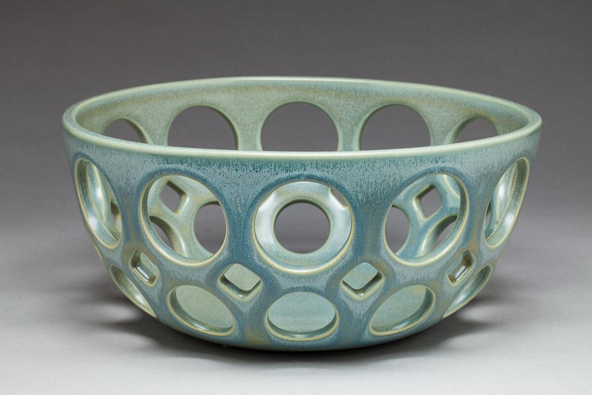 Round openwork bowl - Dimensions: 4