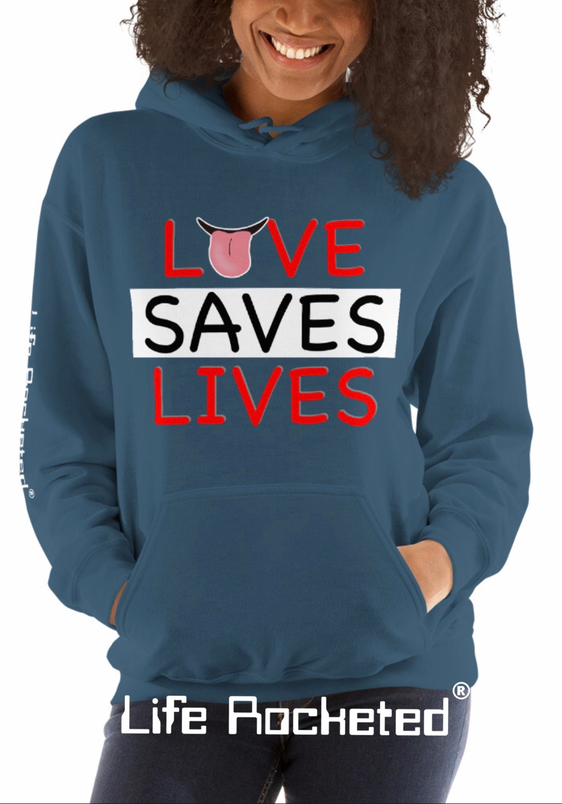 Life Rocketed love saves lives hoodie