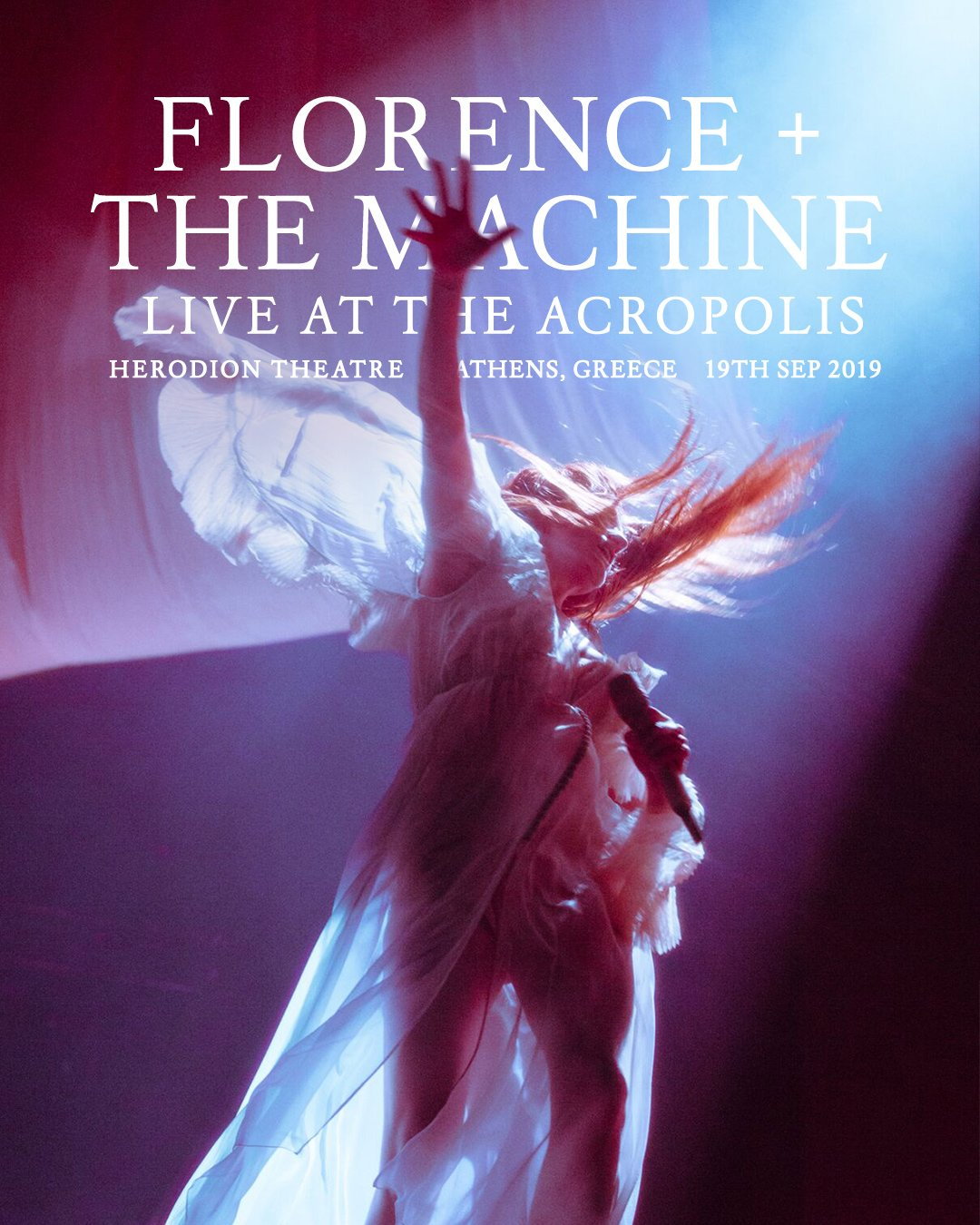 Florence + the Machine Athens 2019 Acropolis poster