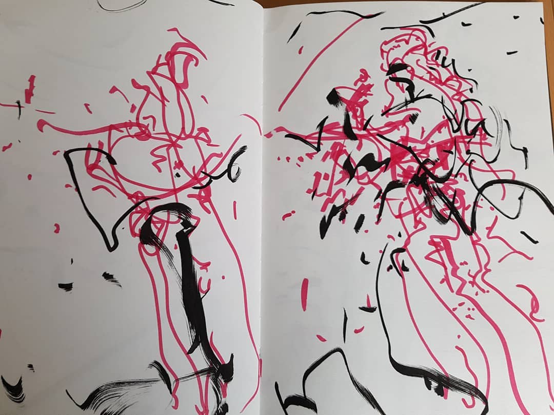 Philip Ebbrell - Sketch of Florence + the Machine at the O2 Arena (November 2018)
