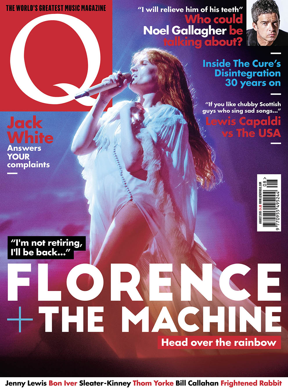 Q Magazine 2019 July cover, by Lillie Eiger