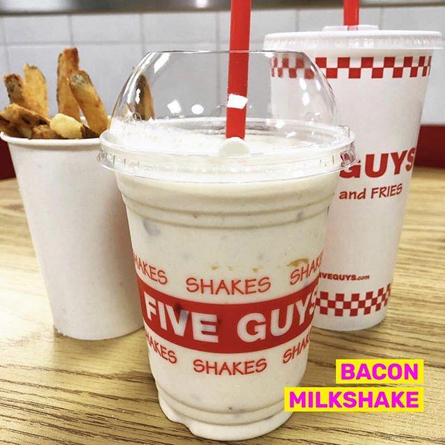 Add bacon to any shake they said... . . . . 📷 by @foodiefromtj #tastyorgross #tasty #gross #baconmilkshake #fiveguys #milkshake #foodiesofinstagram #foodie #ilysmfood #thisiswhyimfat #foodgram #potd #bacon #fastfoodporn #icecream #sweetslover #meatlover