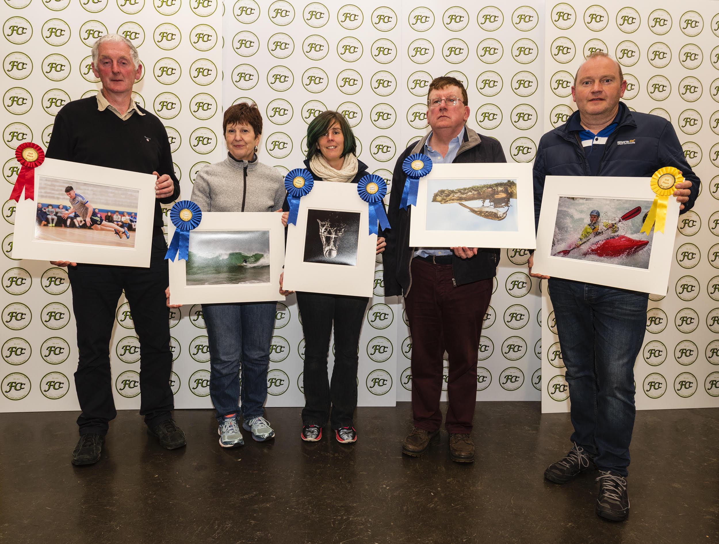 Tom Quish, Sheehan Hanrahan, Karen Fleming, Donagh Cronin, Finbarr O'Hanlon September winners @ FCC (Battie Arnold).jpg