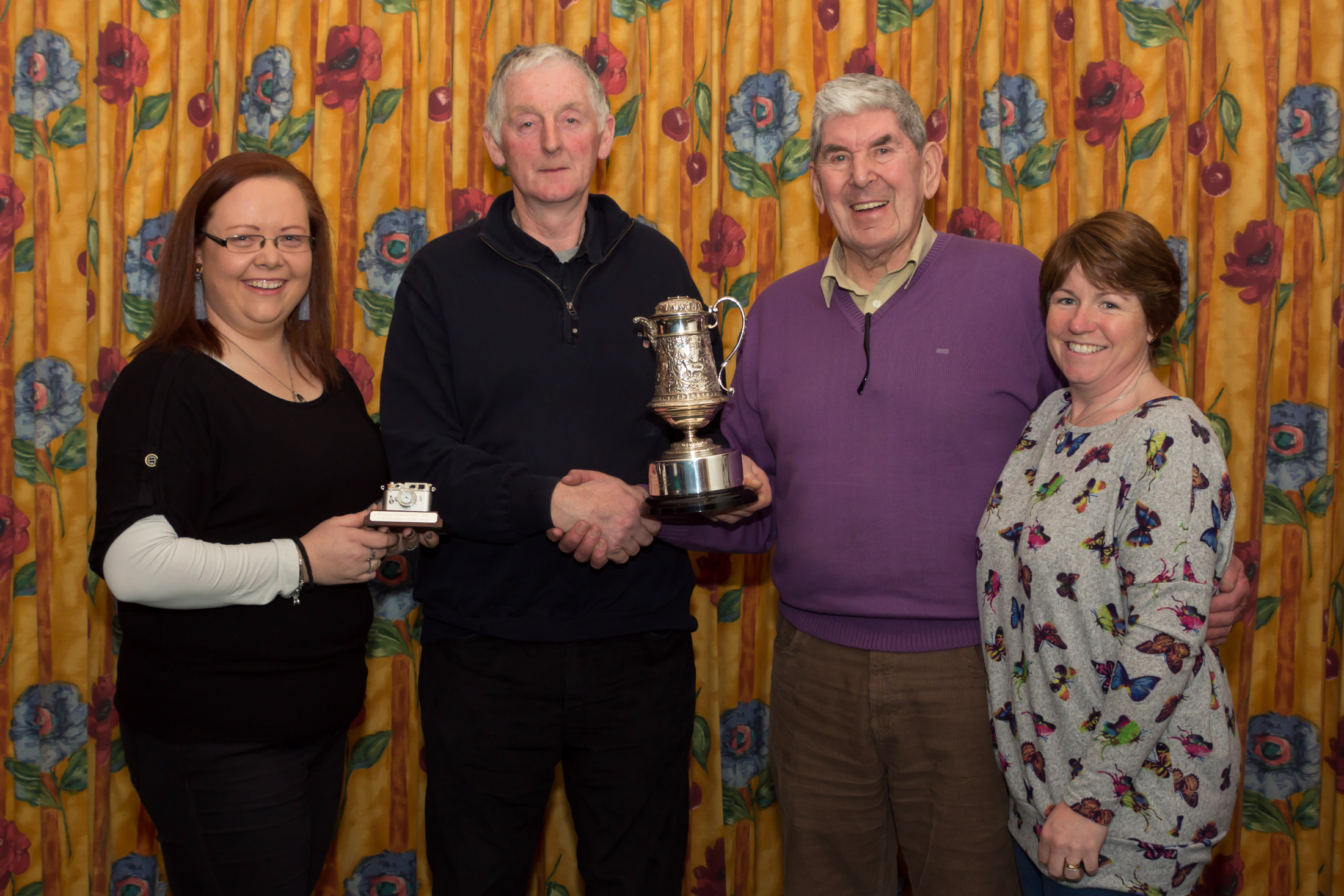 Photographer of the Year 2017 Tom Quish, with Kelly Condon Competitions Secretary, Jim Bartley President _ Una Finn Cairperson (Sinead Hickey).jpg