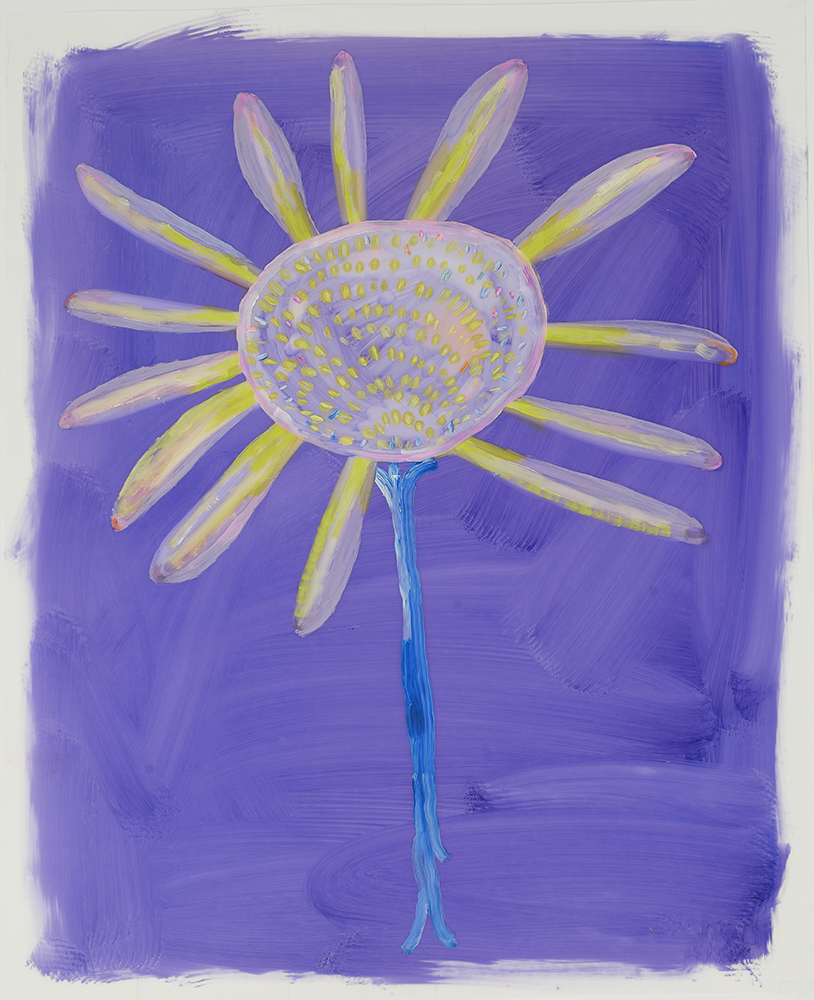 "Pod on Purple , 2015 24"" x 19""  Oil on Mylar"