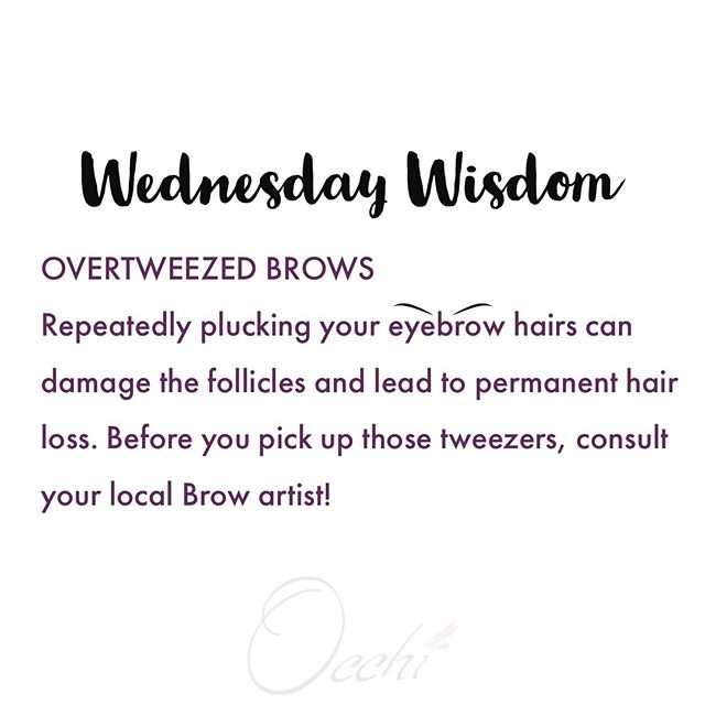Put down those tweezers, find a good Brow Artist, and change your life!  #wednesdaywisdom #microblading #fullbrows #eyebrowshape #micropigmentation #microstroking #browshaping #overtweezed #overplucked #cosmetictattoo #beautifuleyebrows #browstudio #browspecialist #eyebrowstudio #occhilashes #chicagobeauty #eyebrowsspeaklouderthanwords #medicalfacts #browfacts