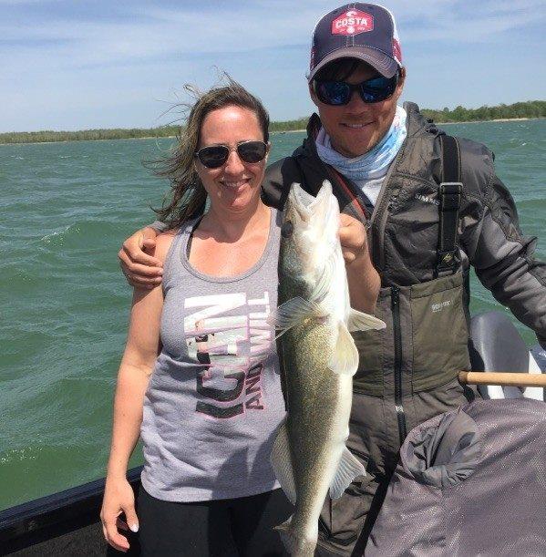 Reed and his Wife, Lori, On Leech Lake, Minnesota