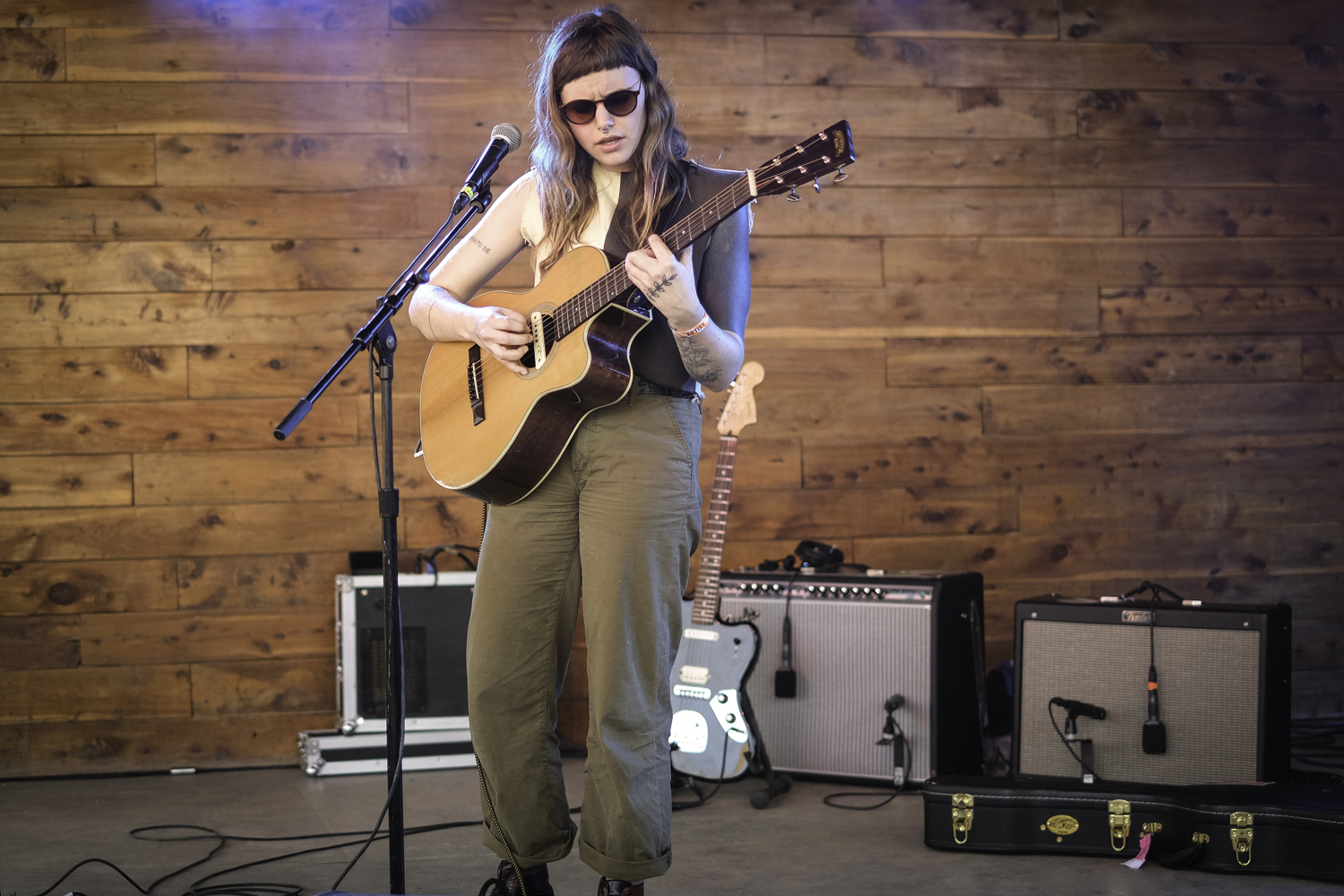 Recording King artist Cat Clyde performing at SXSW 2019