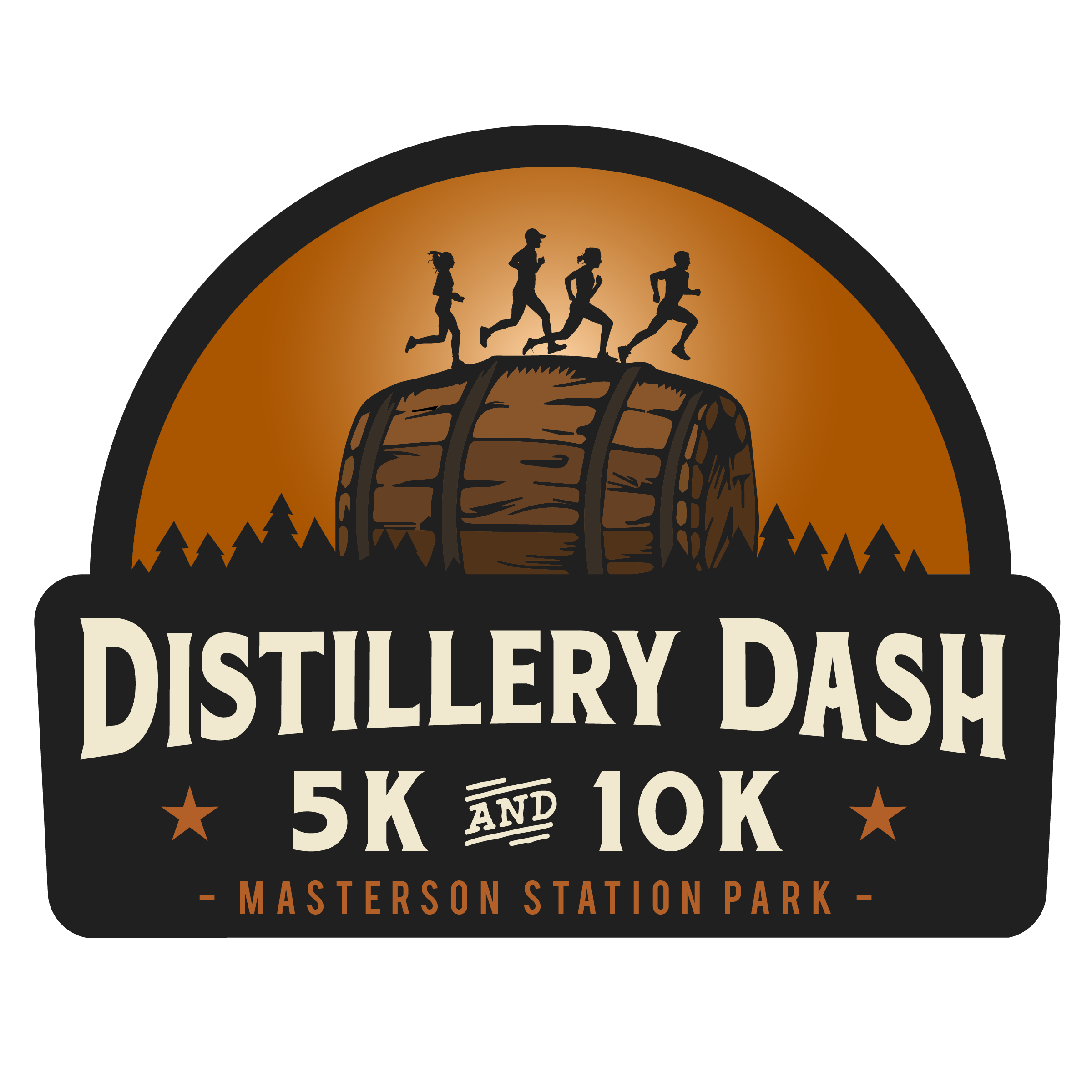 Distillery Dash 5k/10k -  July 12 - The Distillery Dash will feature 5k and 10k cross country race options at beautiful Masterson Station Park. Participants will receive a race t-shirt, branded bourbon glass finisher's award, and 3 bourbon-tasting tickets to use at the race afterparty. If participants are under 21, they will receive all portions of the finisher award except for the tasting tickets. Lexington Distilling and Brewing Company will be on-site for the after party allowing participants to redeem their tickets for bourbon samples of their various bourbon varieties. The afterparty will run until 10:00 PM, so hang around for live music, bourbon tastings, drink sales, food trucks, and a great time! Register for all three races in the series for a special finisher's award at the end of the series!The 5k will be open to walkers, but we will be enforcing a cutoff pace for the 10k due to safety concerns with post-sunset light conditions.Register early to take advantage of our lowest price!