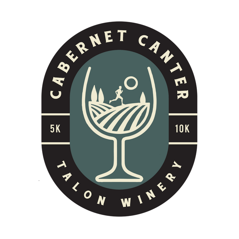 Cabernet Canter 5k/10k - August 30 - Run for wine at the second annual Cabernet Canter Cross Country 5k/10k at Talon Winery! With registration, participants will receive a beautiful cross country race course, race shirt, and wine glass with the Cabernet Canter race logo. After the race, also be sure to grab your 3 wine tasting tickets! If participants are under 21, they will receive all portions of the finisher award except for the tasting tickets. Register for all three races in the series for a special finisher's award at the end of the series!Stick around after the event for the opportunity to use your tasting tickets, shop the great selection of wines, and hang out with live music! The after party will run until 10 PM in the Talon Winery tasting room and Monarch Pavilion.The 5k will be open to walkers, but we will be enforcing a cutoff pace for the 10k due to safety concerns with post-sunset light conditions.Register early for our lowest price!