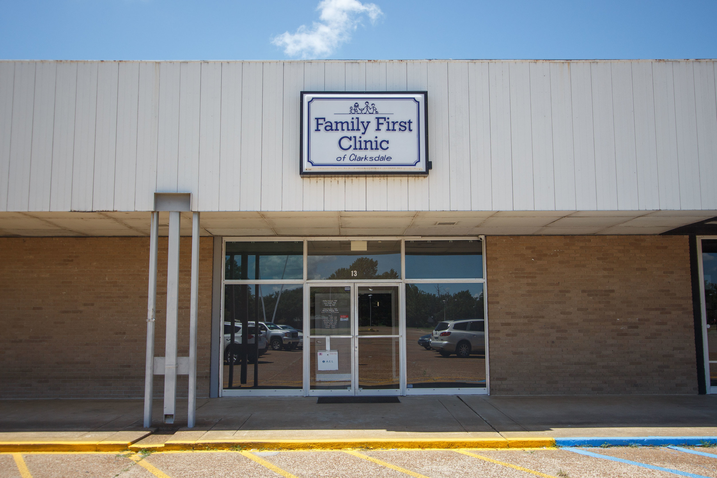 Family First Clinic of clarksdale - 1015 Lee Drive, Suite 13 (Westgate Shopping Center) Clarksdale , MS 38614
