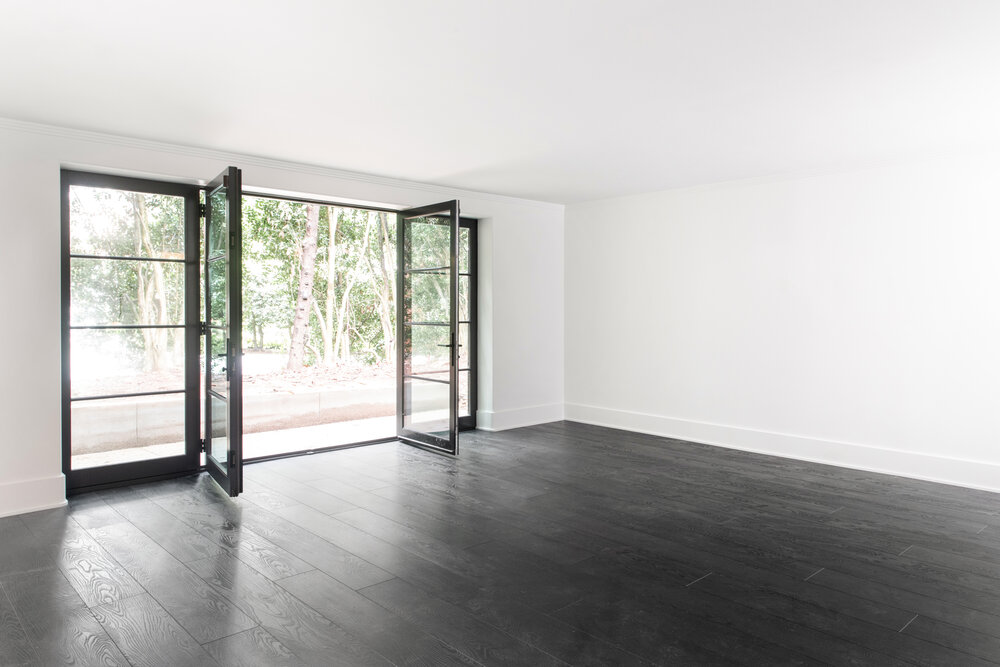 Large glass doors open to let fresh air in