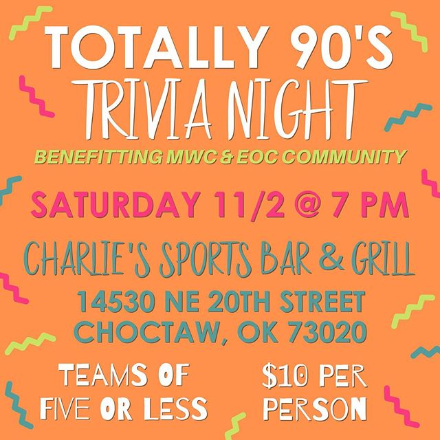 90's TRIVIA NIGHT IS COMING SOON! Come out and support your Junior Service League girls! Tag your teammates and Dress in your best 90's costume! . . . . . #Community #jslmwc #mwcjsl #juniorserviceleague #serviceleague #juniorleague #servingthecommunity #communityservice #volunteering #volunteer #midwestcity #easternoklahomacounty #eoc #oklahoma #giveback #womenempoweringwomen #womensupportingwomen