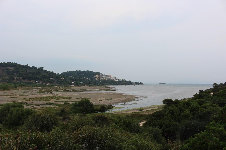 The Vravrona/Brauron beach where the Erasinos River meets the sea.