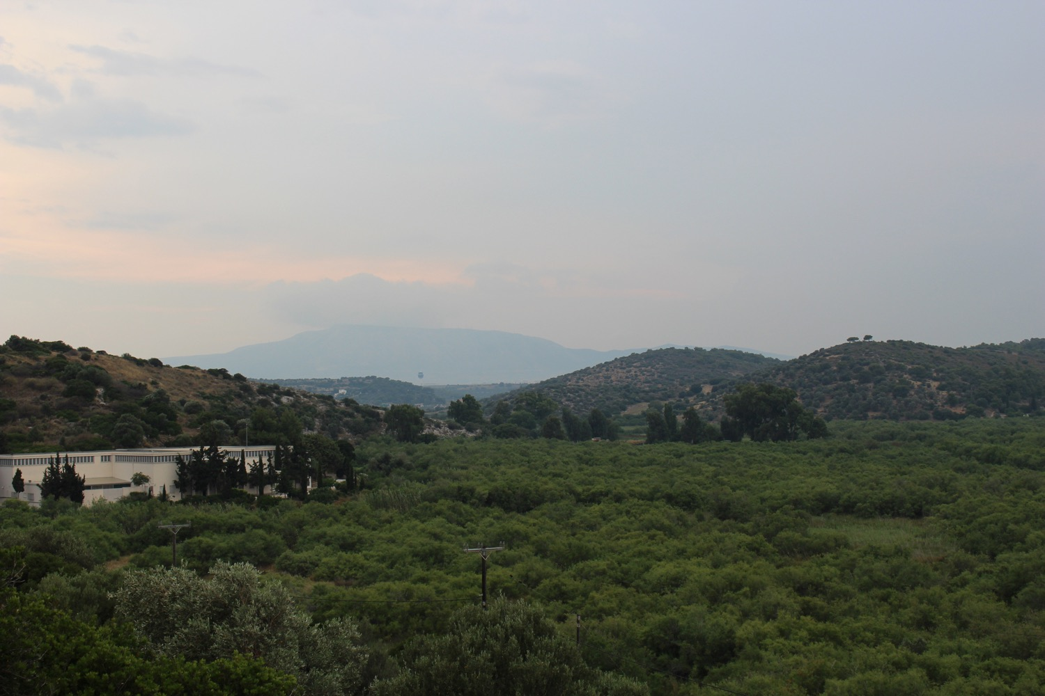 The valley of Artemis' temple in Brauron, with the museum tucked against the hill