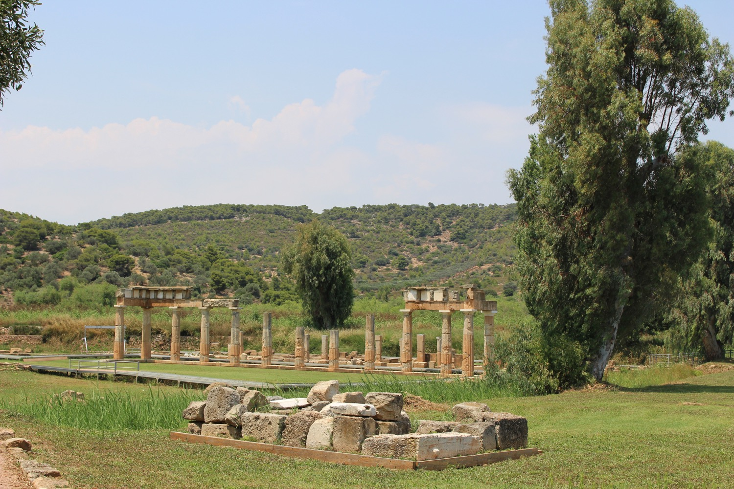 The arcade of Artemis' temple in Brauron