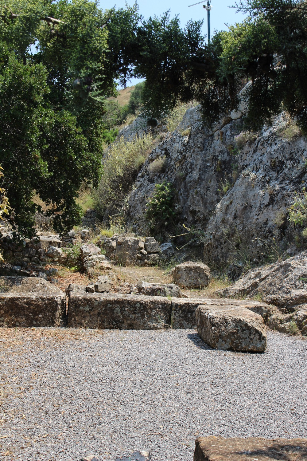 The assumed remains of Iphigeneia's tomb
