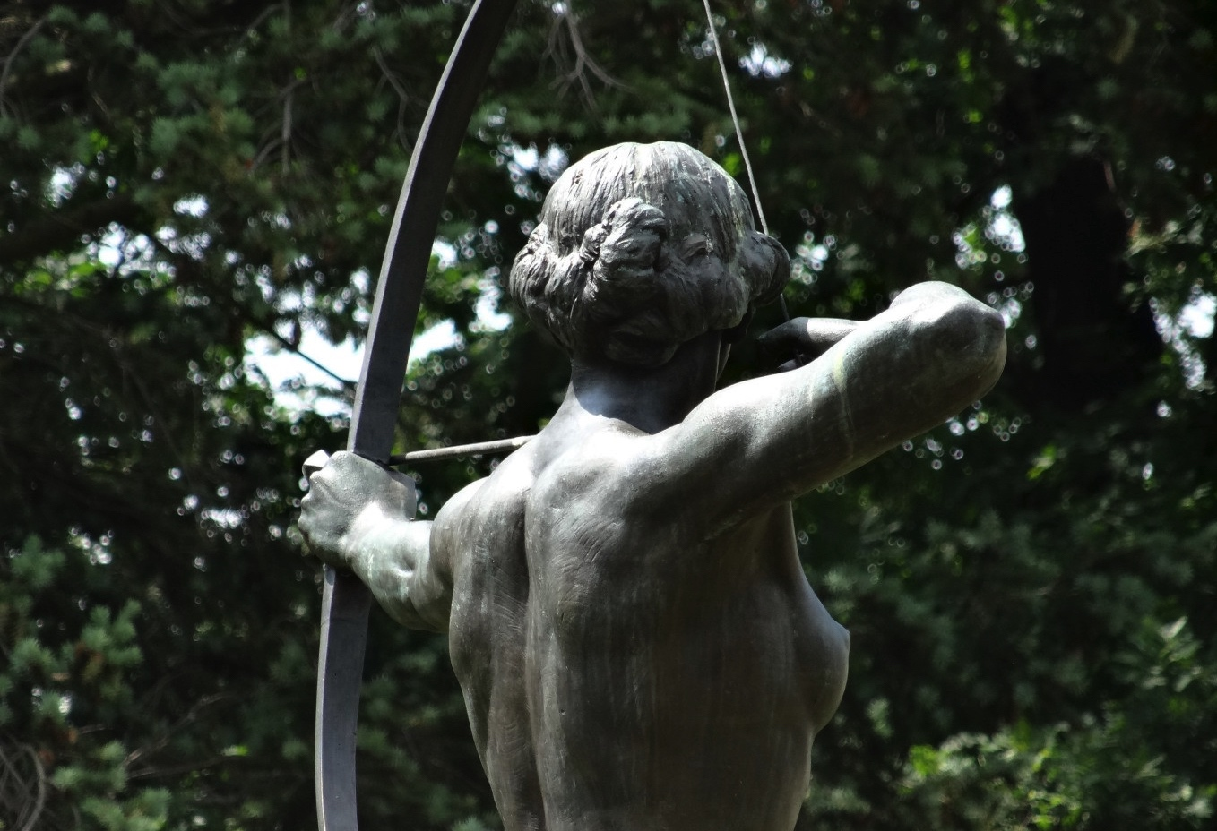 A statue of the goddess Artemis