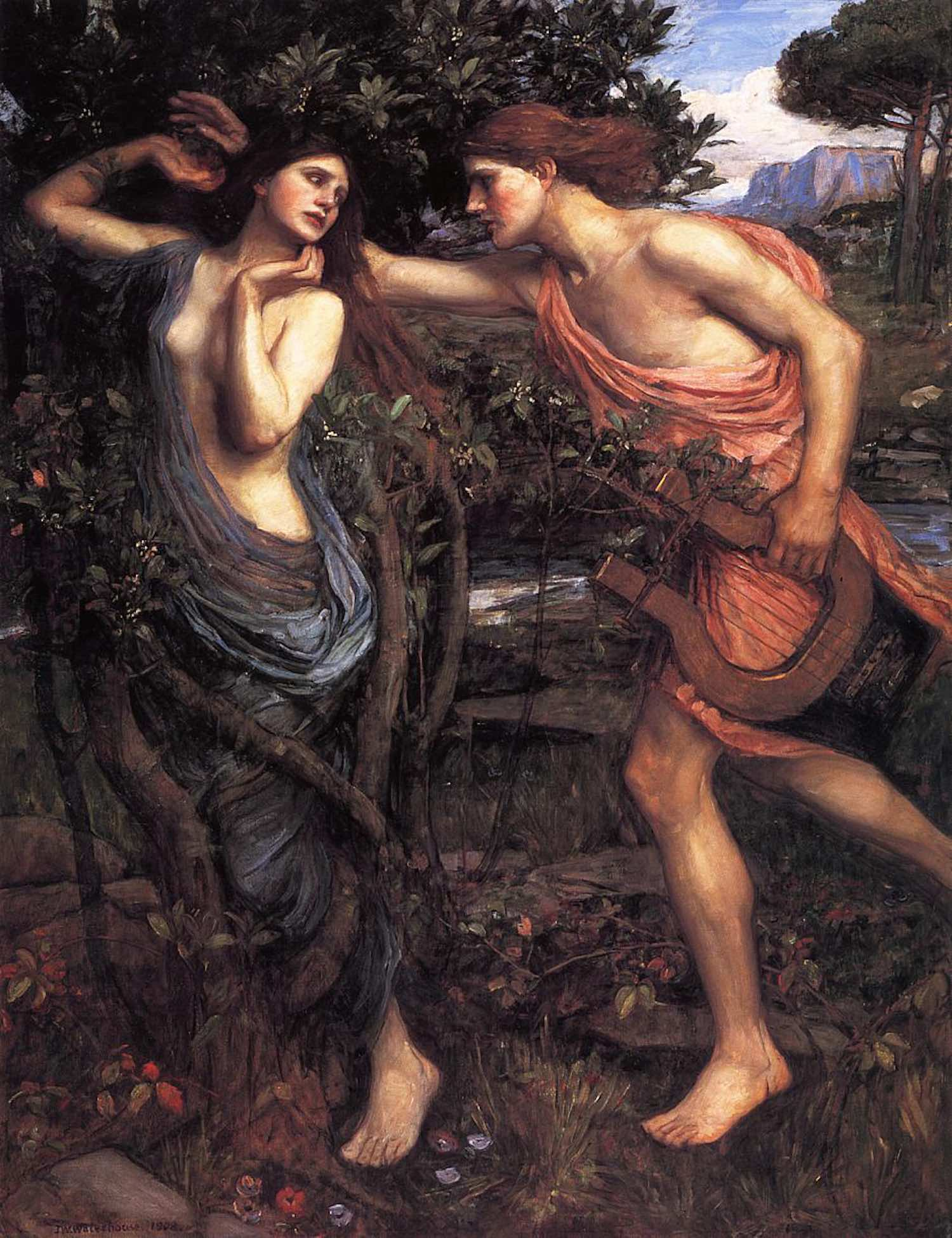 Apollo and Daphne, painting by John William Waterhouse