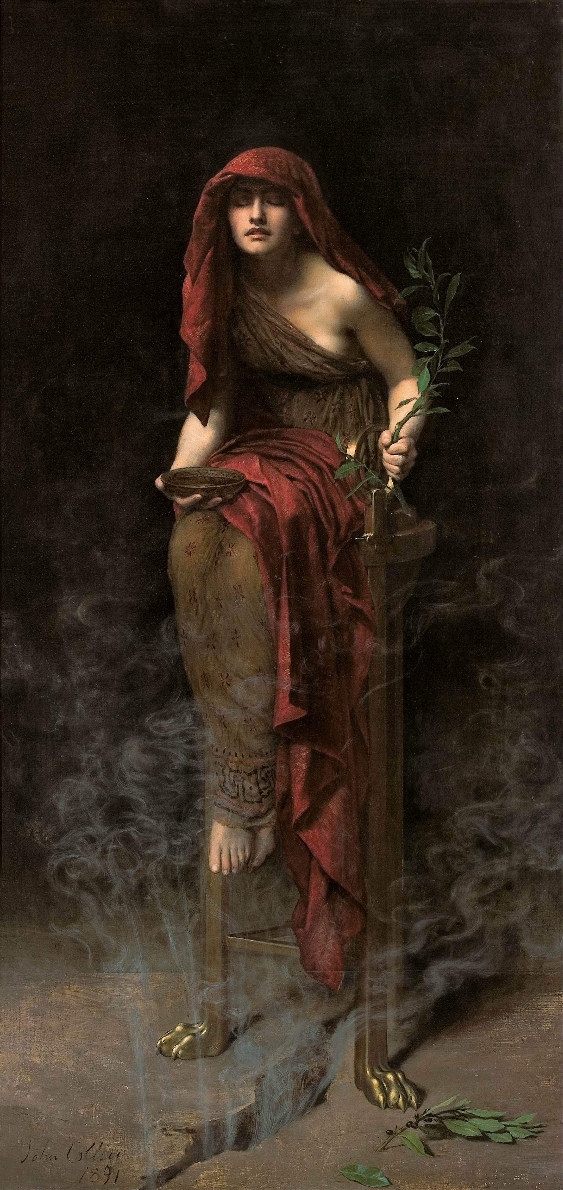 Priestess of Delphi, painting by John Collier
