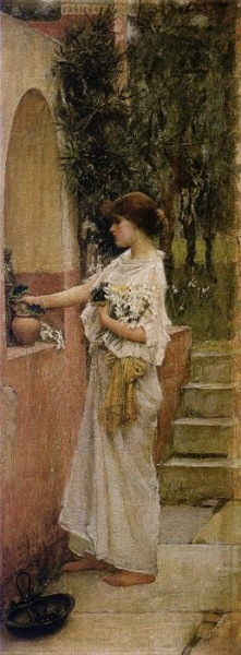 """A Roman Offering"" by John William Waterhouse"