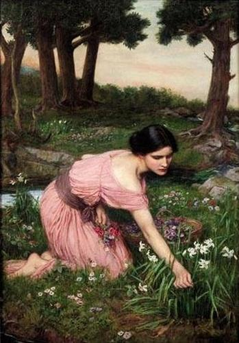 """Spring Spreads One Green Lap of Flowers"" by John William Waterhouse"