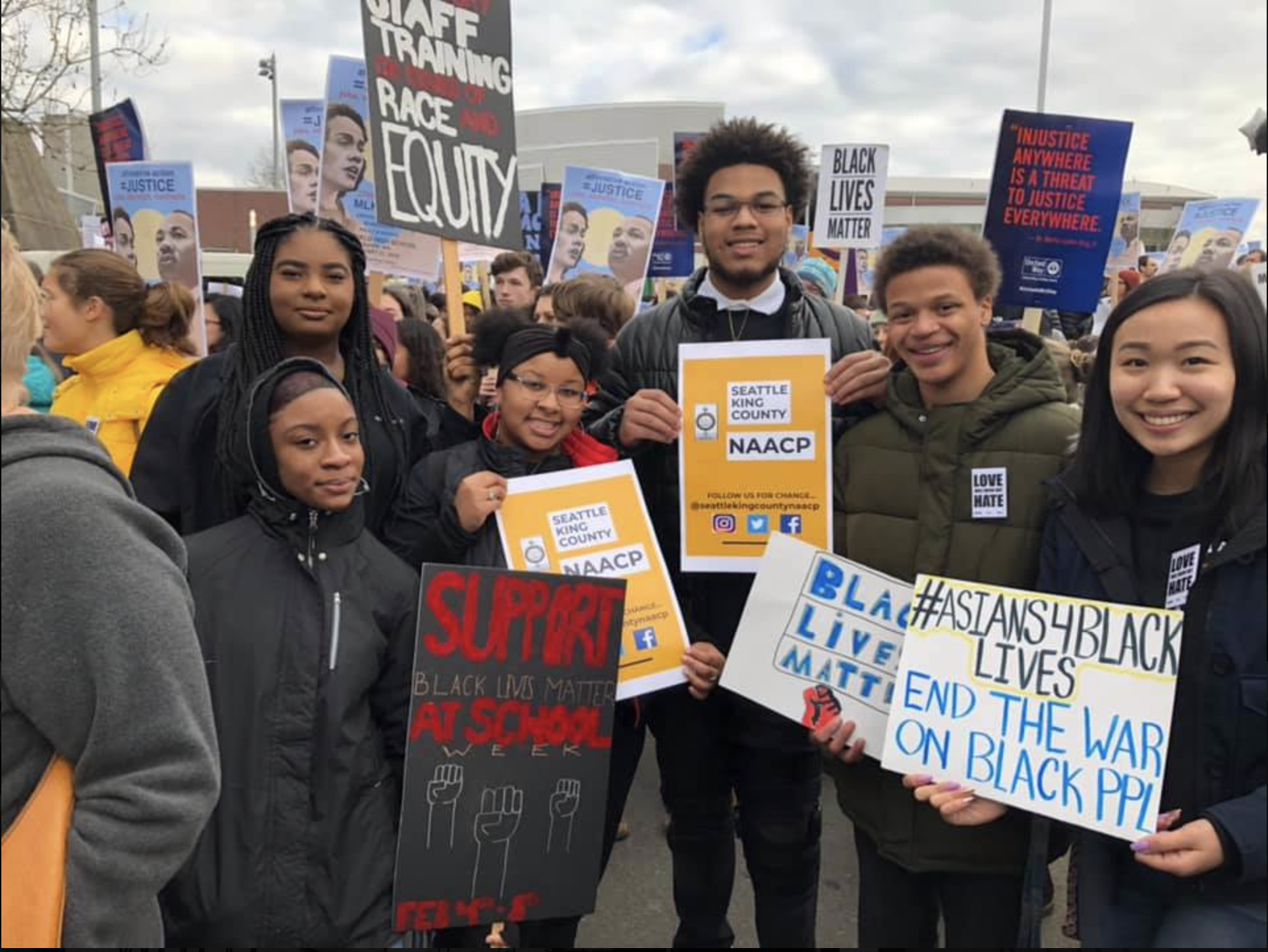 NAACP Youth Coalition members at the last MLK Day March.