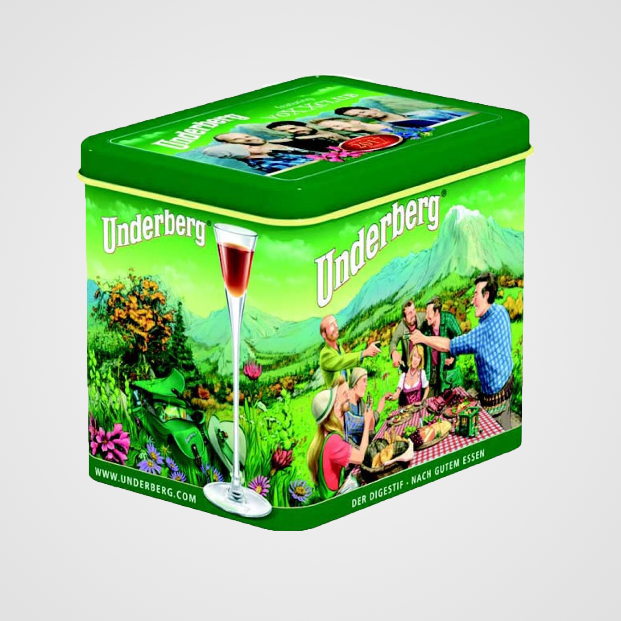 Gift Tin (12 Bottles) - Underberg 2019 Gift Tin - 12 Bottles comes packaged in a 2019 collectible tin containing 12 single portion bottles of Underberg.Each Bottle is 20 ml. / 67 fl oz.Net Weight: 240 ml. / 8.04 fl oz.Country of Origin: Germany