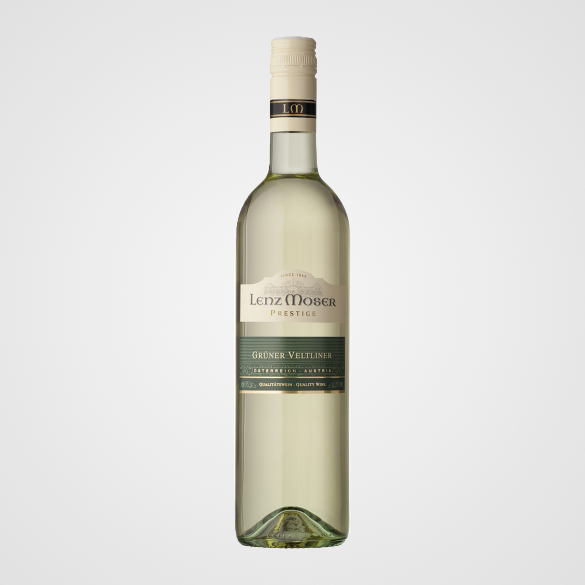 Grüner Veltliner - Quality wine, dry, Austria.Tasting Notes: peppery-spicy, fresh and fruity, harmonious and palatable.12.5% abv.