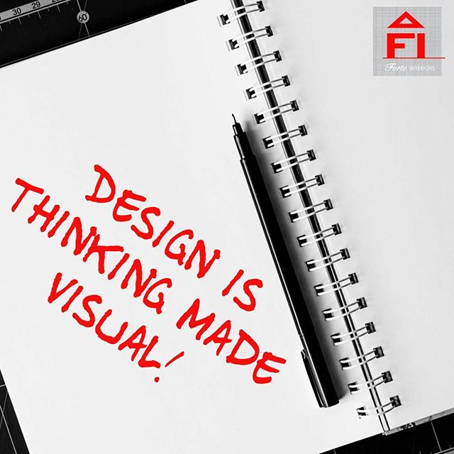 Design is thinking made visual- Saul Bass  #forteinteriors #bostondesigner