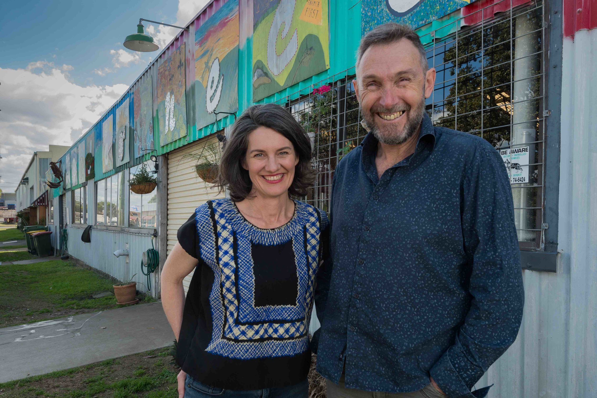 Emma-Kate Rose and Rob Pekin outside Food Connect in Brisbane. Pic: supplied.
