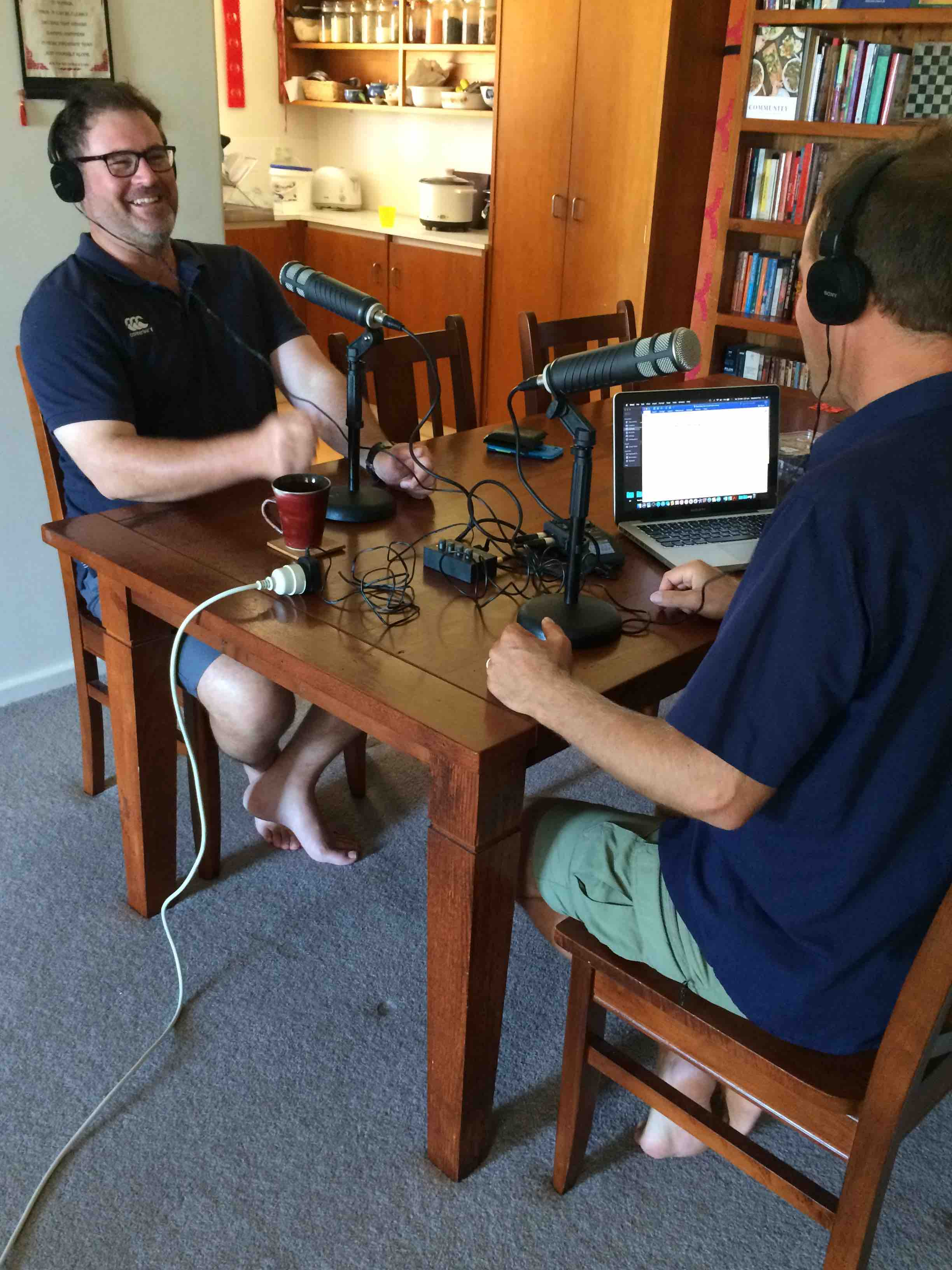 David McLean in conversation with Anthony for this podcast. Pic: Olivia Cheng.