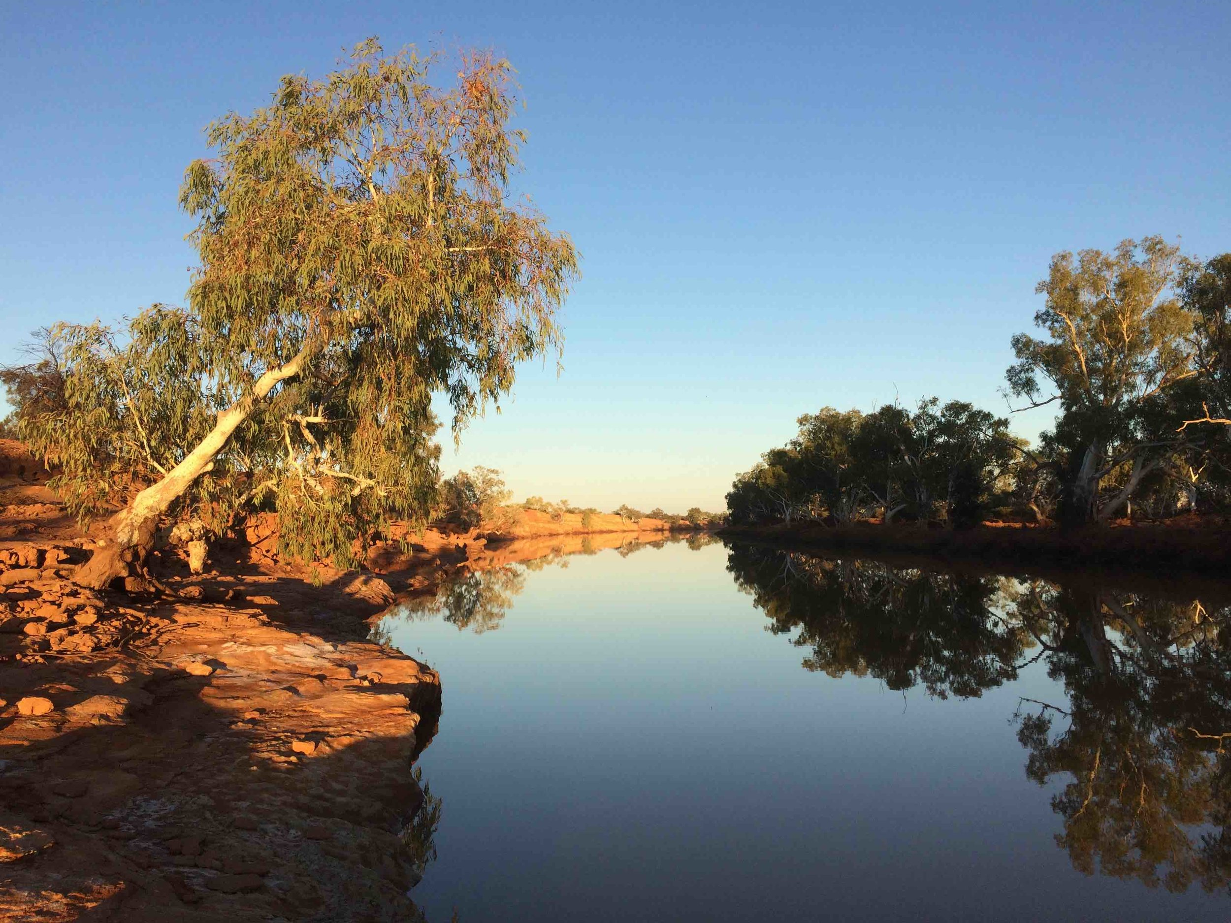 The Murchison River at Wooleen Station.