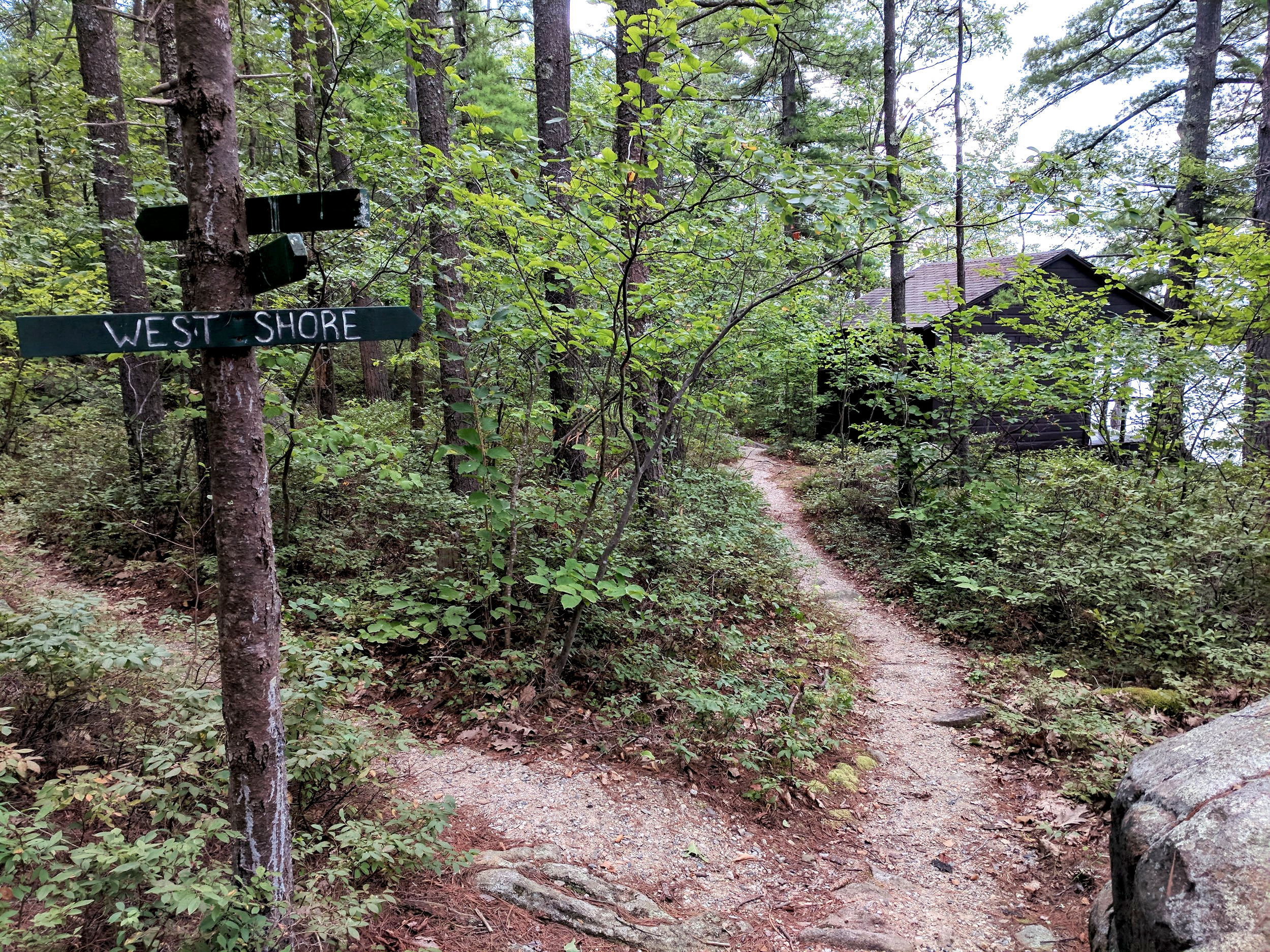 43 Beautiful Acres - The island also contains walking trails, a tennis court and volleyball court, a horseshoe pit, a rhododendron swamp, a tree trail, small sandy beaches, and composting toilets and outhouses.