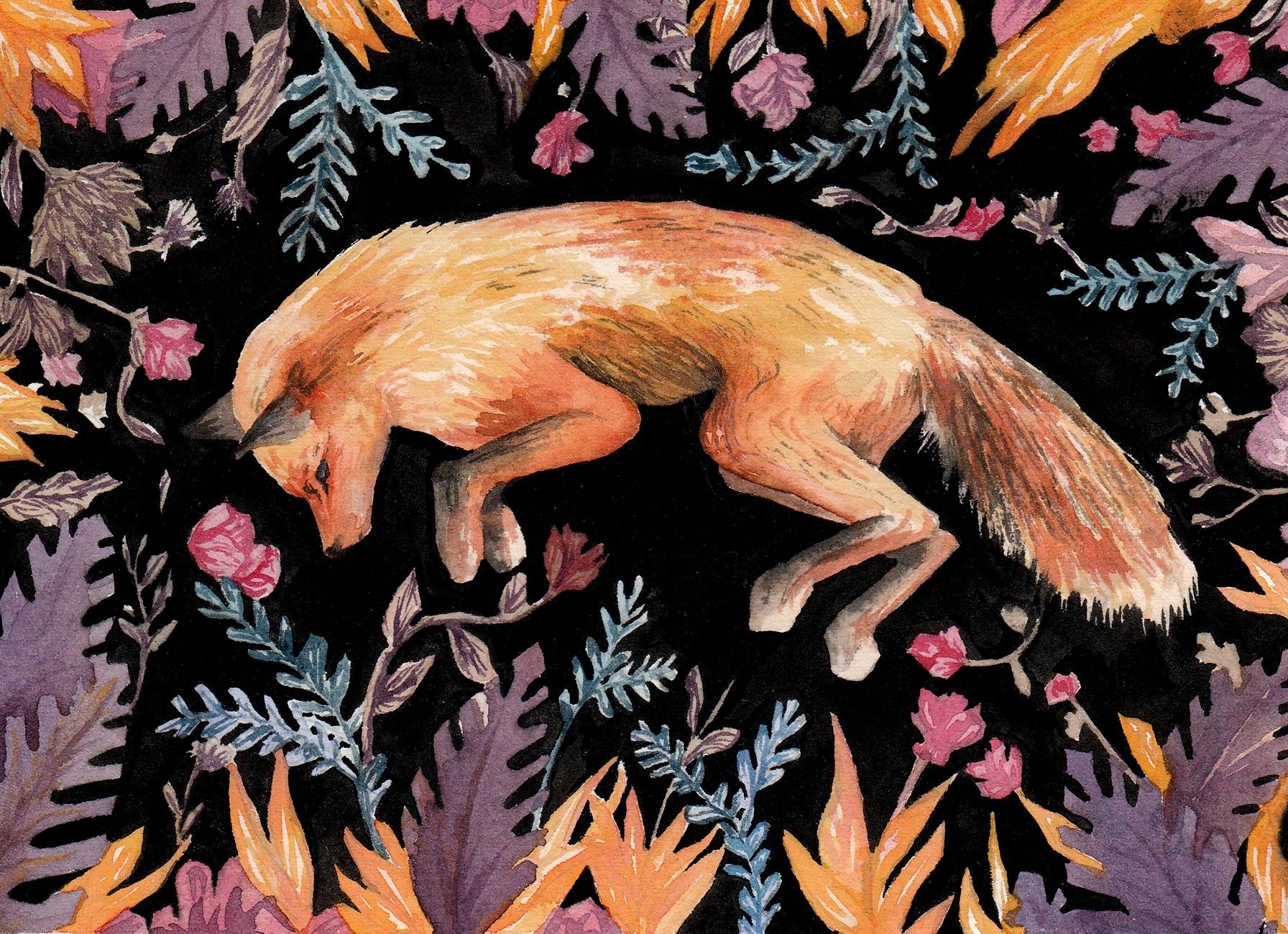 Fox & Leaves  2017
