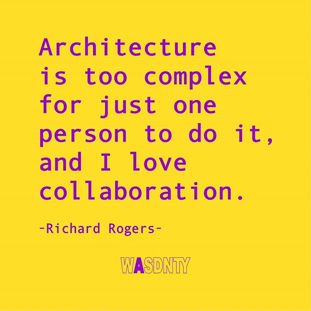Drop a 'Yes' if you agree!!! 🔥🔥🔥 • Personally I find Architecture a very complex process, but our projects at school rarely encourage teamwork or any kind of collaboration - and quite frankly: I find that a pity! 🌧 • Truth is: Architecture projects are quite different after school (life) and require a set of different professionals. Actually many more professionals than we use right now. Architecture will definitely become more collaborative in the future - but that doesn't automatically ensure success. That's because WE HAVE NEVER PROPERLY LEARNT HOW TO COMMUNICATE & COLLABORATE AT SCHOOL. 🤯 • What are some of the lessons you learnt over the years when it comes to COMMUNICATION within a team? Let us know in the comments 👇 • Make sure to check out mu latest episode about my lessons learnt from POOR TEAMWORK & how it can help you become a better COMMUNICATOR. 🗣 (👉 Link in Bio) • #wasdnty #whatarchschooldoesnotteachyou #architecturequotes #richardrogers #richardrogersarchitect #architecturelovers #archi_students #architecture_students #architecturedaily #letstalkarch #arch_more #designbunker #architecture_au #archidesign #thefutureiscollaborative #collaborationovercompetition #collaborations #consciouscollaboration #teamworks #architectureteam #complexarchitecture #collaborationiskey #communicationiskey #architectureinspiration @rogersstirkharbour