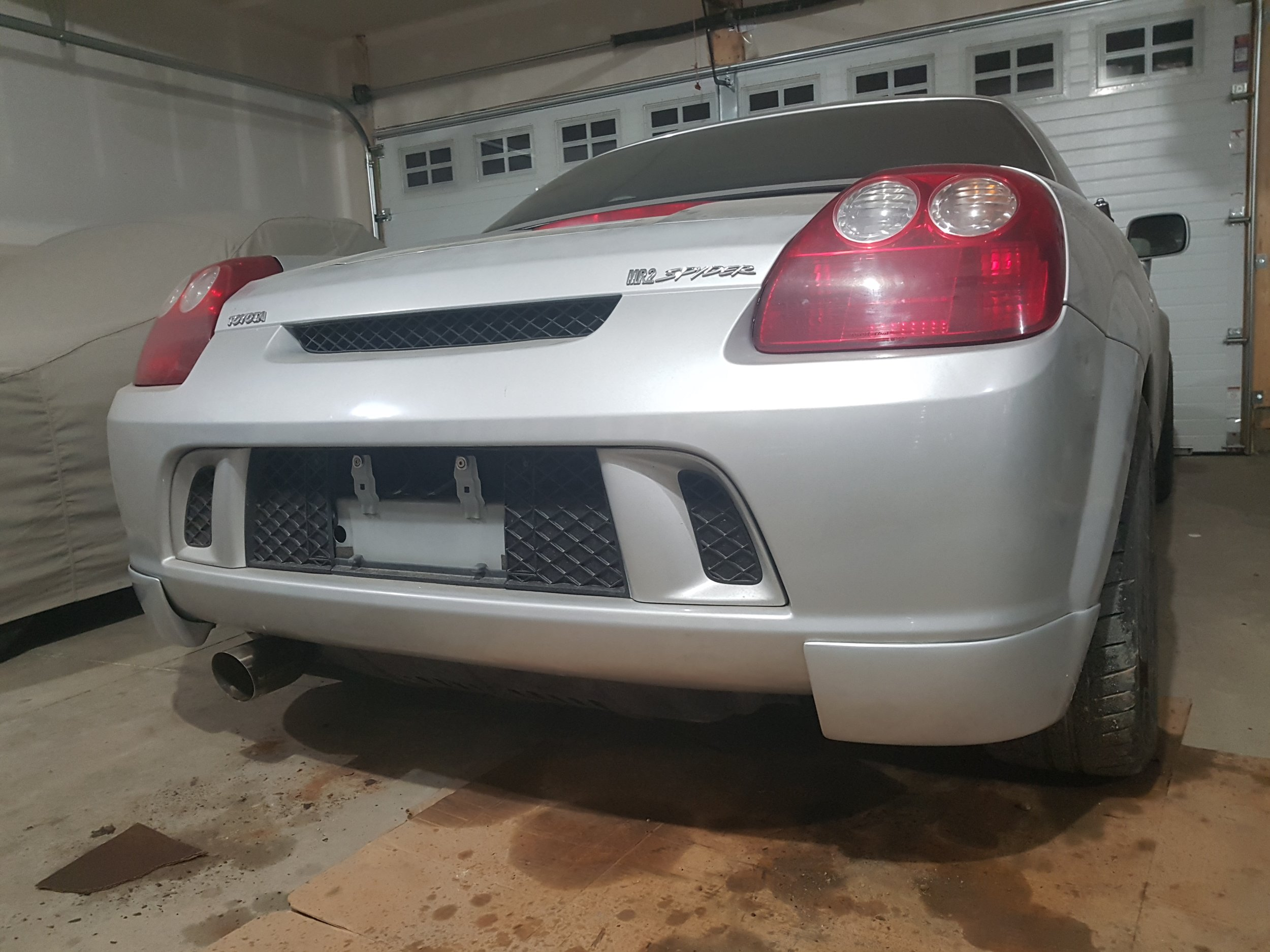 Installed a catback and shot of the rear strakes. Shipped all the way from Russia!