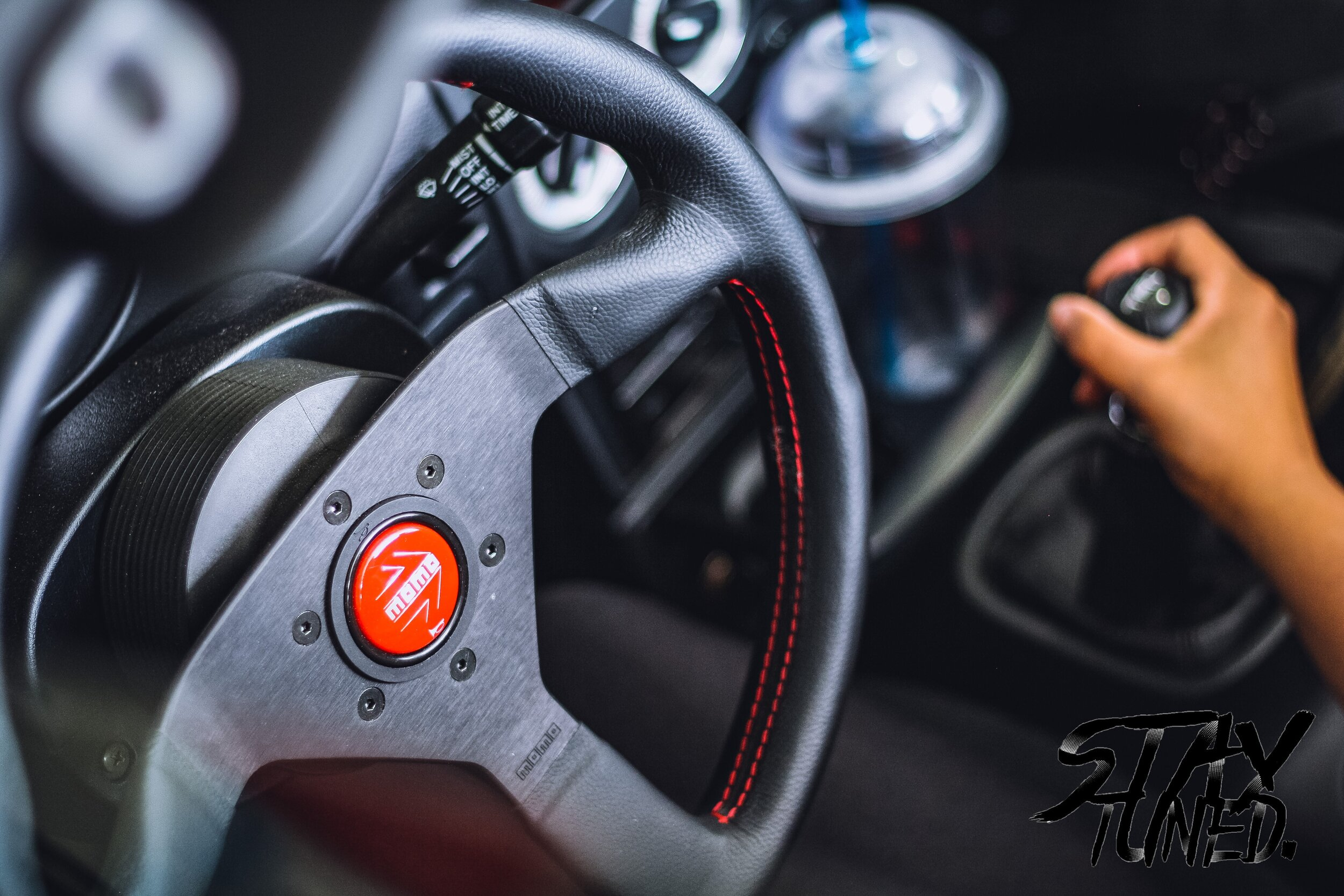 One of the most important interior mods was next. 350mm MOMO monte carlo. Ive honestly had maybe 7 or 8 of these steering wheels in my time with cars. Every build or street car has run one, and I will not run anything else. Simple, elegant, classic.