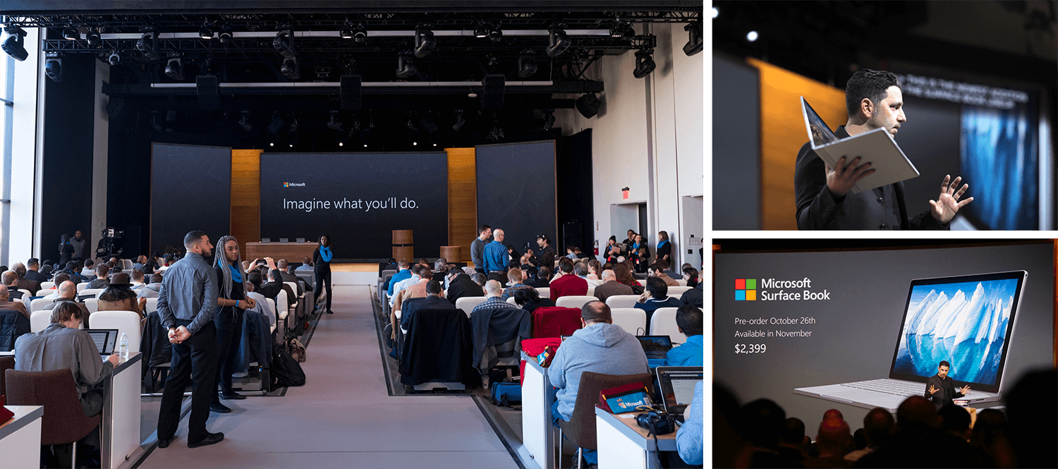 MICROSOFT SURFACE BOOK LAUNCH