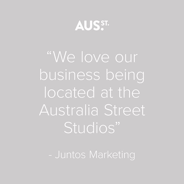 """""""Moving to Australia Street Studios 3years ago has really freed us up to be more focused on our purpose and to grow"""" - Juntos Marketing . . #juntosmarketing #tenant #testimonial #ausststudio #sharespace #coworking"""