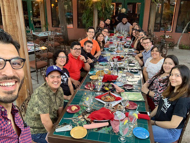 Dinner time and drinks! 2019 Monzón Fellows are breaking bread and making bonds.