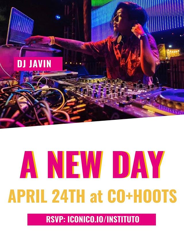 DJ Javin will be spinning this Wednesday at Instituto's Launch Party. Don't miss the good tunes and the good vibes. iconico.io/instituto