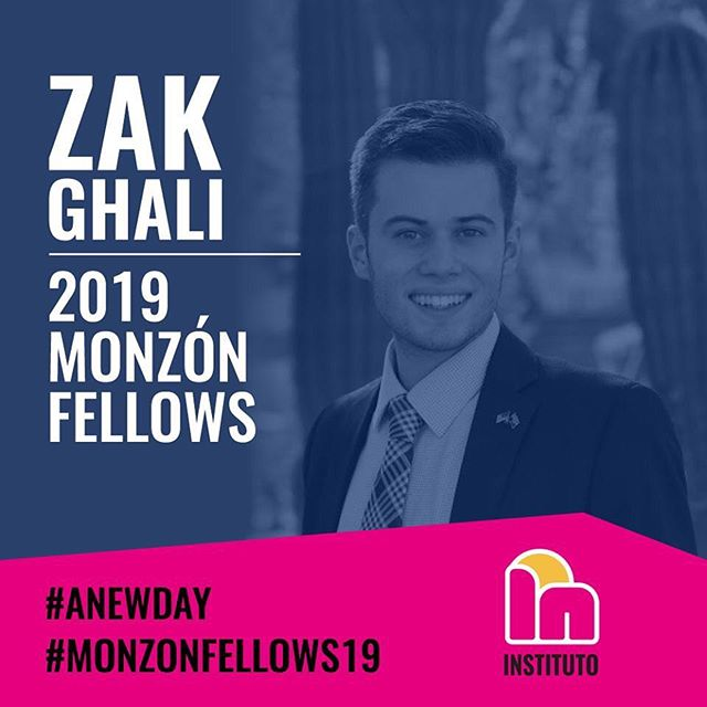 """I am excited to engage with a diverse group of leaders and to be challenged to think outside of my comfort zone while we create new systems and solutions to help Arizona."" -Zakary Ghali, 2019 Monzón Fellow"