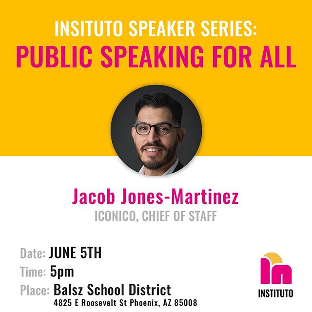 If you need help on public speaking, register today: instituto.io