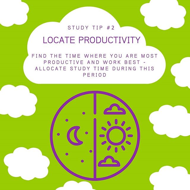 TIP #2 Take note of our weekly study tips from our fellow tutors!  Searching for productivity? Finding the willpower and motivation to complete tasks can be difficult. Find out when you are most productive and allocate study time during this period!  Need more than study tips? Book a session with out excellent tutors who will empower you to achieve your individual goals! Book now: https://tutoringcentre.teachlearngrow.org.au/book