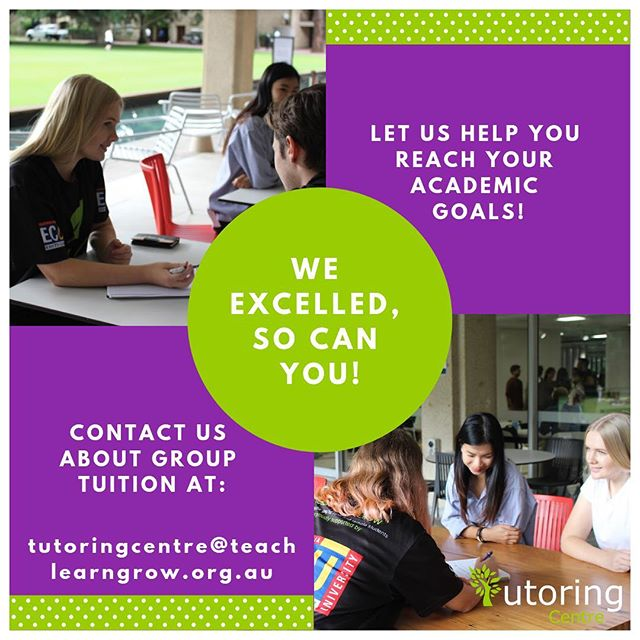 Tutoring doesn't have to be a solo activity! Grab a friend (or three) and contact us about booking a group tutoring session with one of our highly experienced and effective tutors 🌱💜 https://tutoringcentre.teachlearngrow.org.au/book-group