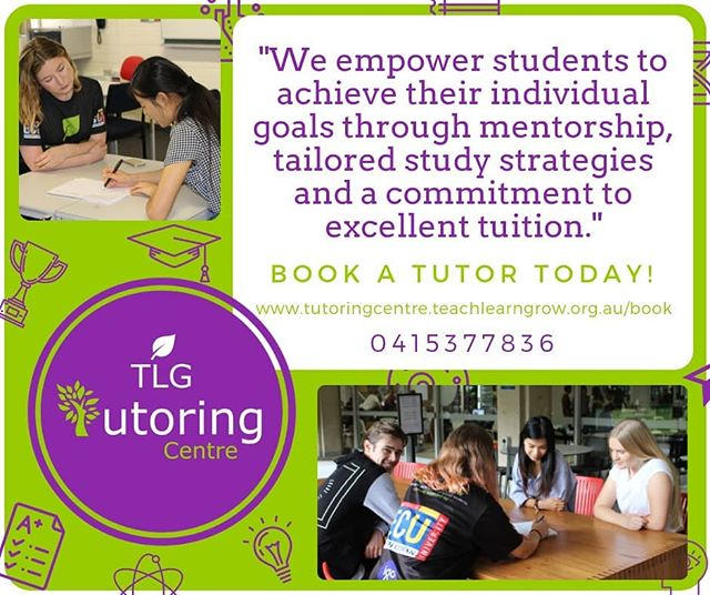 Struggling to get through the rest of the year? Need those extra marks? Book one of our highly qualified tutors! 🍃  Through offering one-on-one tuition and group tuition, we are able to fast track your way to success! www.tutoringcentre.teachlearngrow.org.au/book