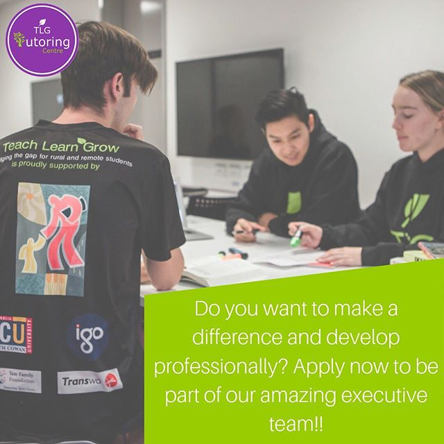 EXECUTIVE RECRUITMENT IS NOW OPEN! Teach Learn Grow has positions available in all areas across our executive (including the Tutoring Centre of course 🤩). If you want to make a difference in the lives of both rural and metropolitan students across Australia apply now! Being on the executive provides candidates with amazing opportunities to develop professionally and gain skills desirable to many potential employers! Follow the link below to apply and start the next phase of your TLG journey 🌱💜 https://www.teachlearngrow.org.au/join-executive