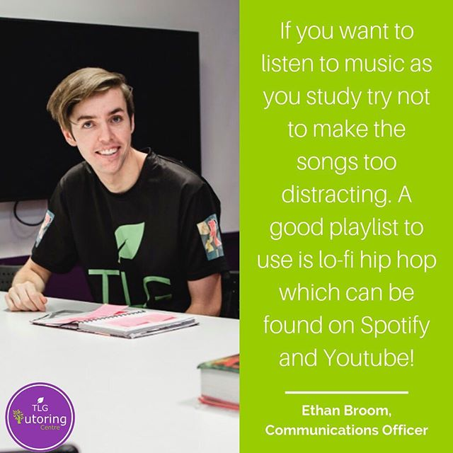 TC Team Member Study Tip #3 🌱💜 It can often be tempting to listen to music while you're studying but this can actually make it more difficult to focus! Look for music without lyrics in order to maximise your study time. Need more than study tips? Book a group tutoring session with one of our amazing tutors today!