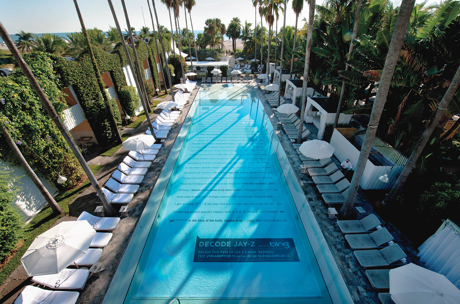 Droga5's David Droga will receive a Clio lifetime achievement award for works including Jay-Z's Decode Search Experience at Delano South Beach Hotel in Miami (pictured).